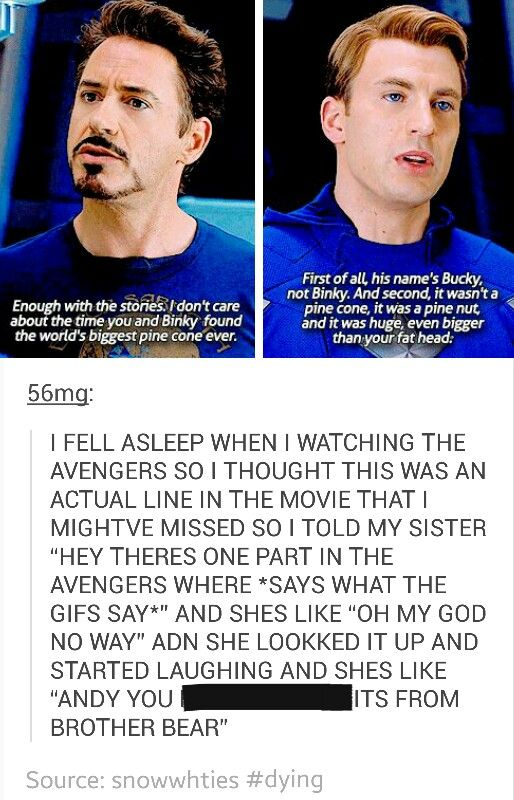 The real question here is how does one fall asleep during the Avengers