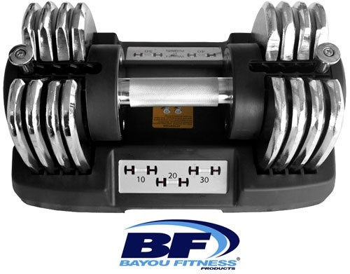 Bayou Fitness BF-0150 1 (One) 50 lb Bayou Adjustable Dumbbell