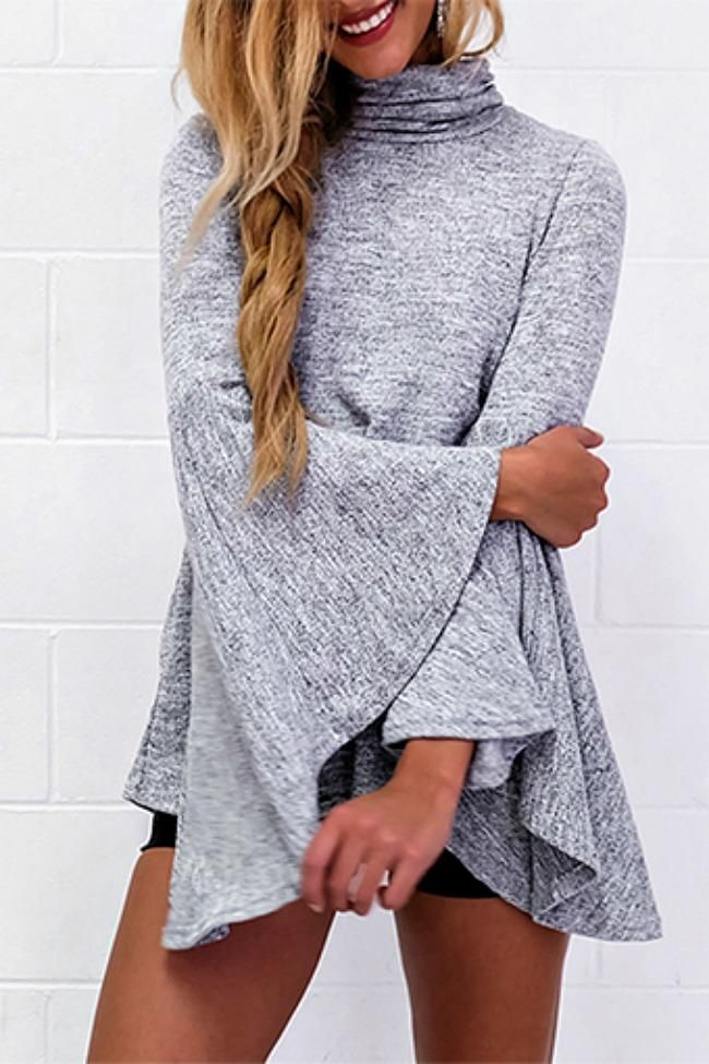 Girls Night Out Belle Sleeves Top: Cozy-chic style is embodied in the Girls Night Out Belle Sleeves Top! Wear it with your favorite leggings or dress is up with shorts and knee high boots for a night on the town.  TheChicFind.com