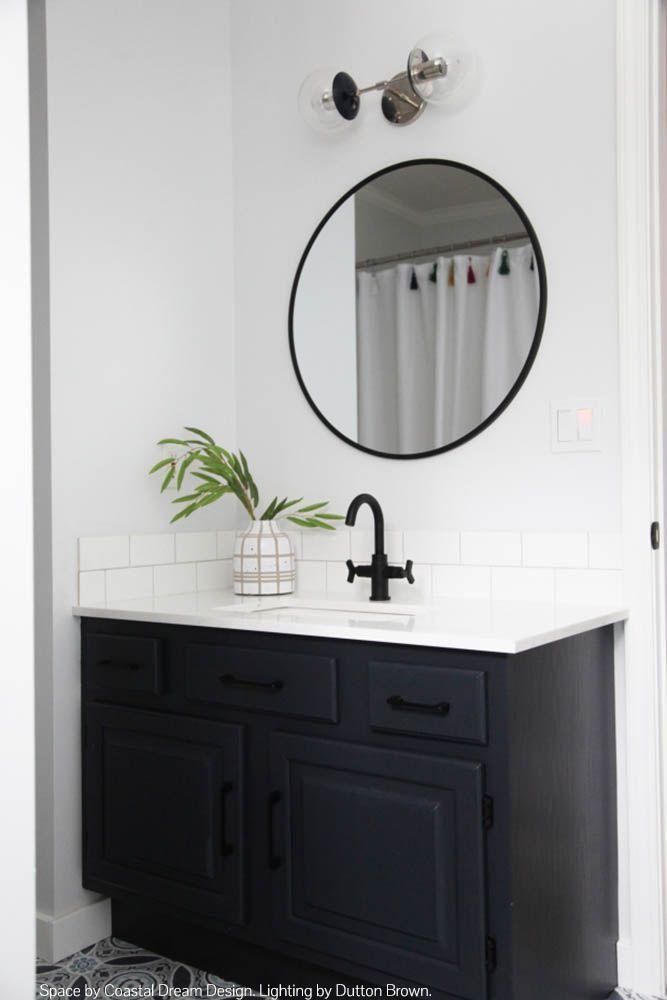 Color Cap Double Sconce 6 Bathroom Mirror Round Mirror Bathroom Teenage Bathroom