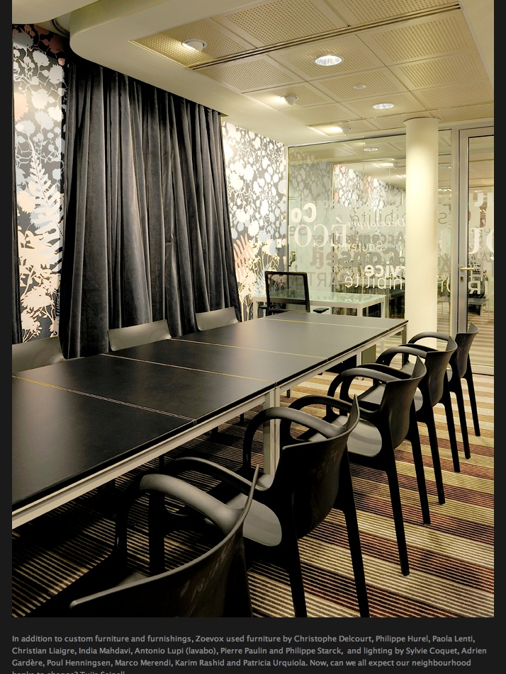 Wallpaper Effect In Conference Room