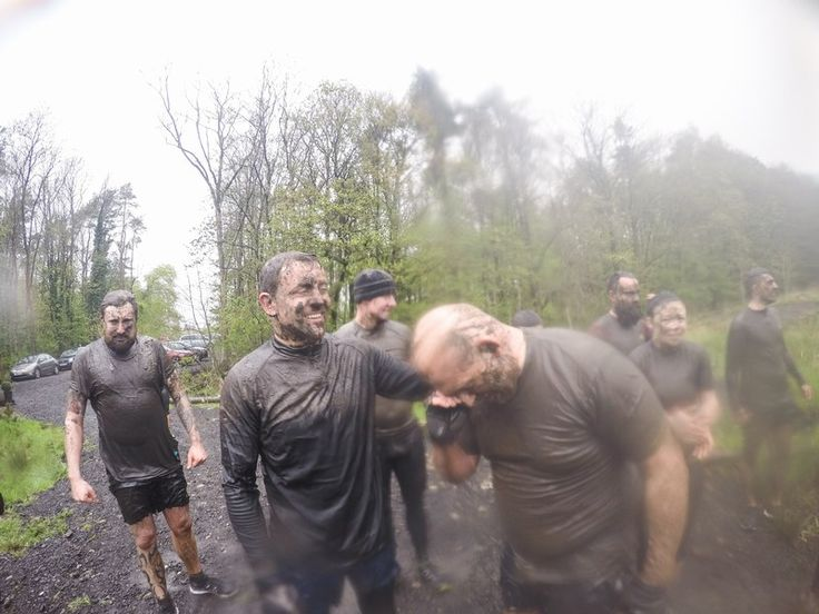 Tough Mudder Training at Craufurdland Muddy Trails in May 2015 - Team Brass get absolutely soaked and caked in mud - top notch training for the Worlds Toughest Obstacle Course Event - Tough Mudder!! #toughmudder #lovethemud #muddytrials #Craufurland #Crufurlandmuddytrials #toughmudder2015 #teambrass #BrassandGranite #teamwork #takeonthemud #training #hardwork #getsome