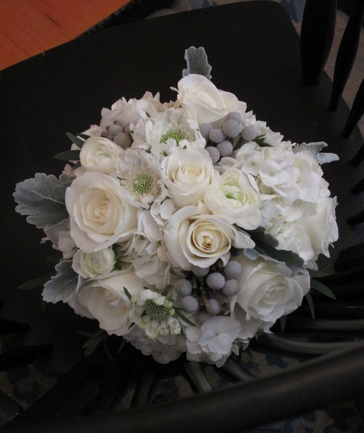 bridal bouquet gray and white on the hunt pinterest bridal bouquets winter weddings and. Black Bedroom Furniture Sets. Home Design Ideas
