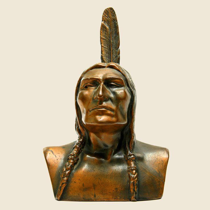 Shawmut Bank of Boston Native American Bust