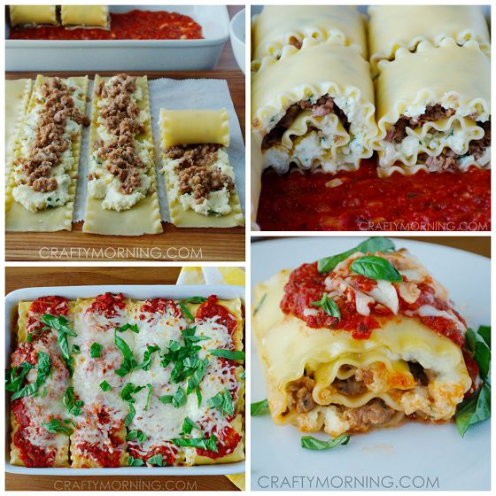 Make these delicious 3-cheese lasagna roll ups for dinner using sausage or ground beef! This dinner is husband and kid approved.