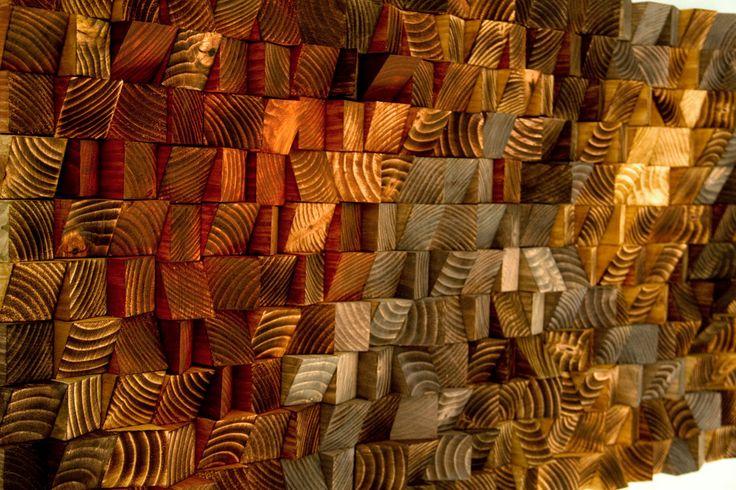 Hout wall Art houten sculptuur mozaïek van ArtGlamourSligo op Etsy