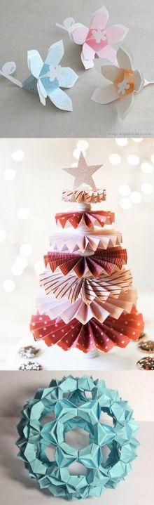 arbolito de navidad con circulos de paapel doblados
