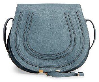 Chloe 'Marcie - Medium' Leather Crossbody Bag - Blue