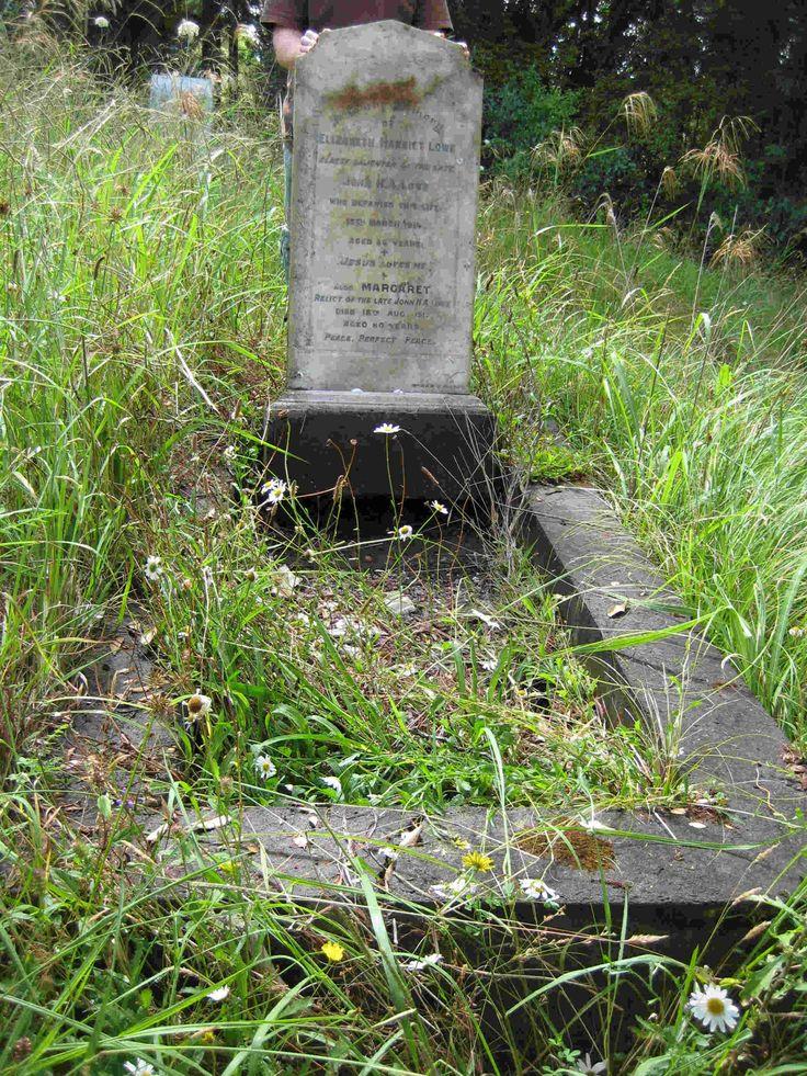Margaret Craig nee Lowe, Waikemete Cemetery, Auckland