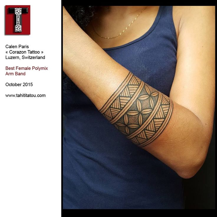 2015-10 - Arm - Polymix - Calen Paris | The Best Polynesian Tattoos in the World