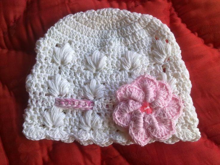 Hainute copii tricotate si crosetate la comanda: Caciulita crosetata din bumbac,eleganta