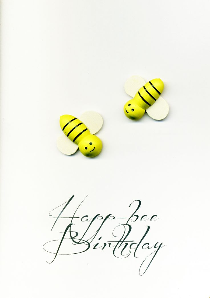 Happ-bee Birthday - 3D card.  Available from my Facebook Store just copy & paste the following http://twopaperdollsbyjaninekeast.aradium.com