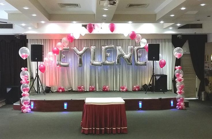 17 best images about letter foil balloons for party for 1st birthday stage decoration