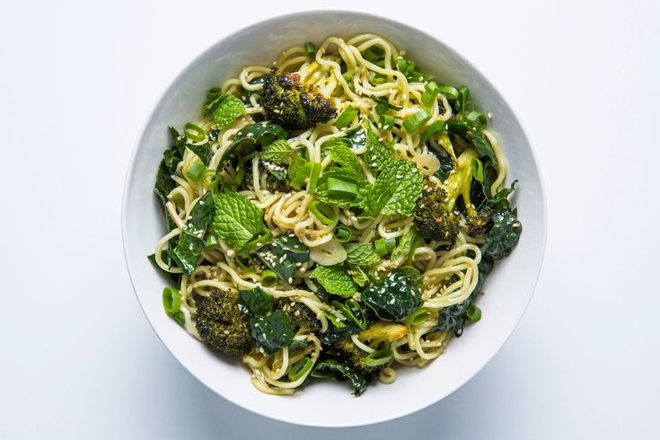 Instead of deep-frying the broccoli in this sesame noodles recipe, we used a high-heat roasting method.