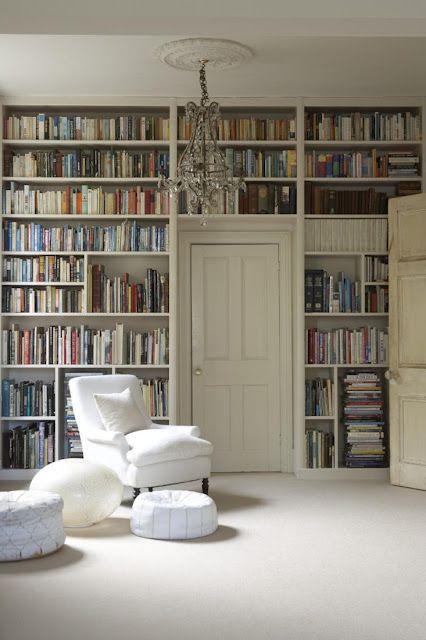 Bookcases around door. Only best solution for our living room around door to garage.