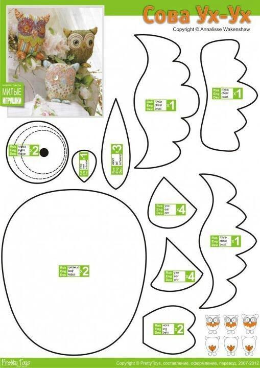Best Felt Owls Images On   Felt Fabric Felt Owls