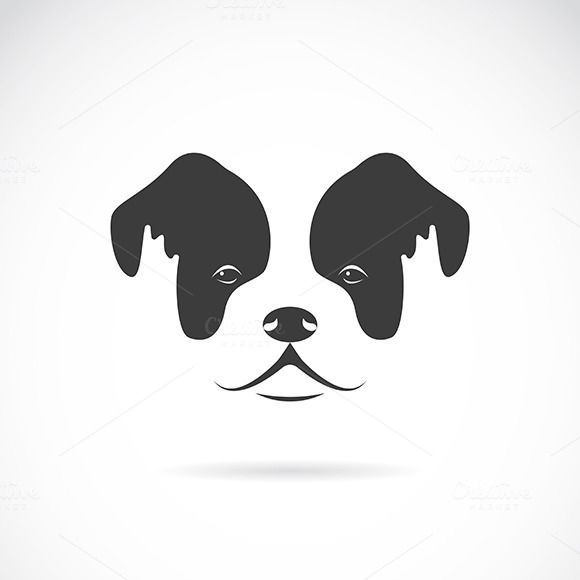 Vector image of an dog face by yod67 on @CreativeWork247 - Fonts, Graphics, Themes, Templates