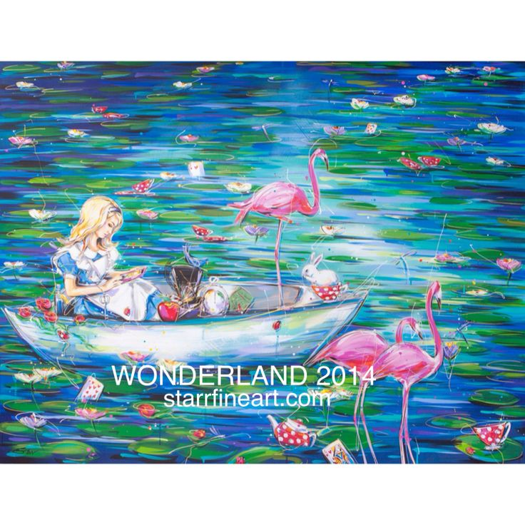 ' Alice's adventures in never neverland ' by STARR www.starrfineart.com ..... Feature painting for WONDERLAND 2014 opening at the framed gallery in Darwin in may .