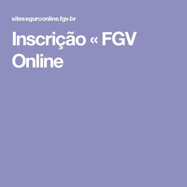 Inscrição « FGV Online