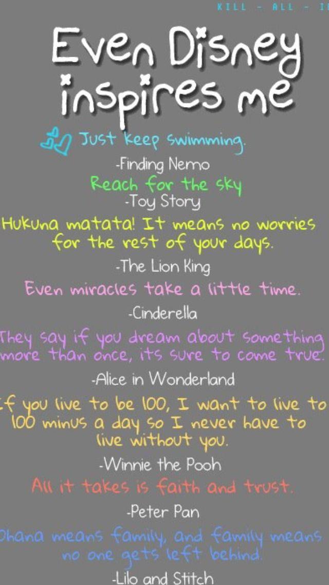 Disney inspires me