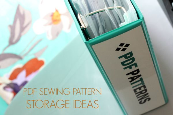 pdf sewing pattern storage ideas on craftsy