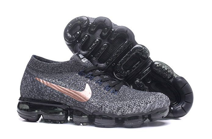 2017 2018 Daily Nike Air VaporMax Flyknit Oreo Brone 849558 010 Shoe For Sale