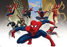 Papier Peint Photo Mural 1274VEXXL - Collection Marvel Spiderman - XXL - 312cm x 219cm - 3 Part(s) - Imprimé sur 130g/m2 papier intissé EasyInstall