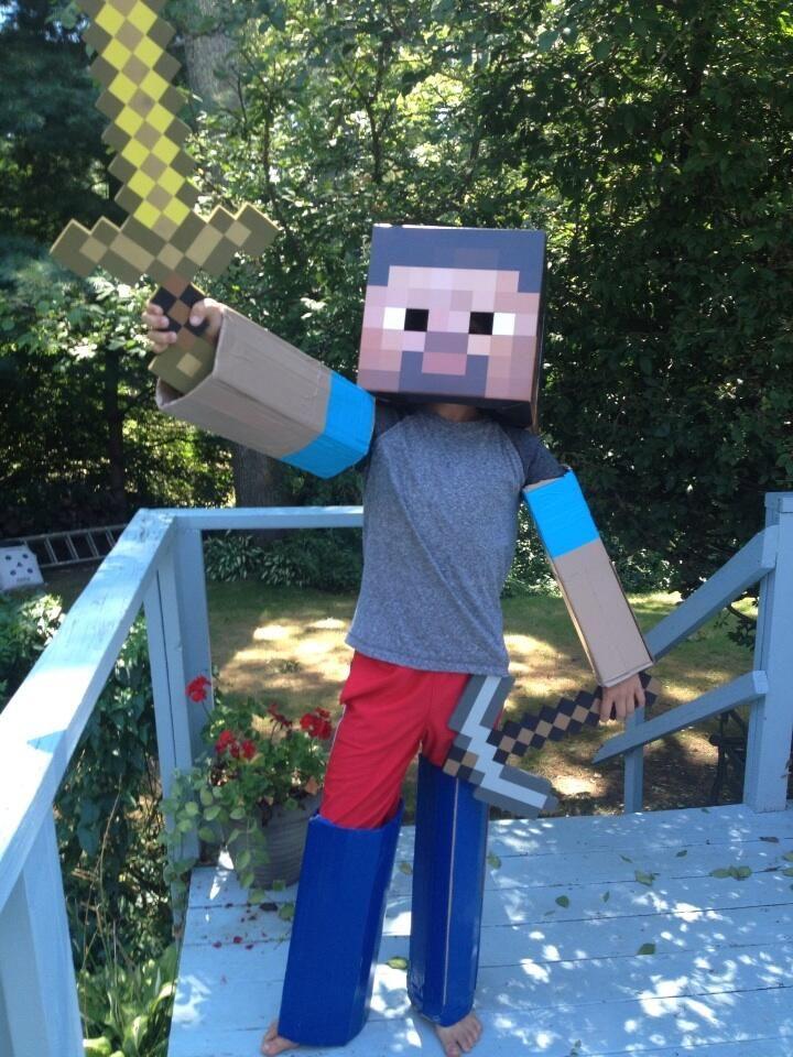 Minecraft costume idea.