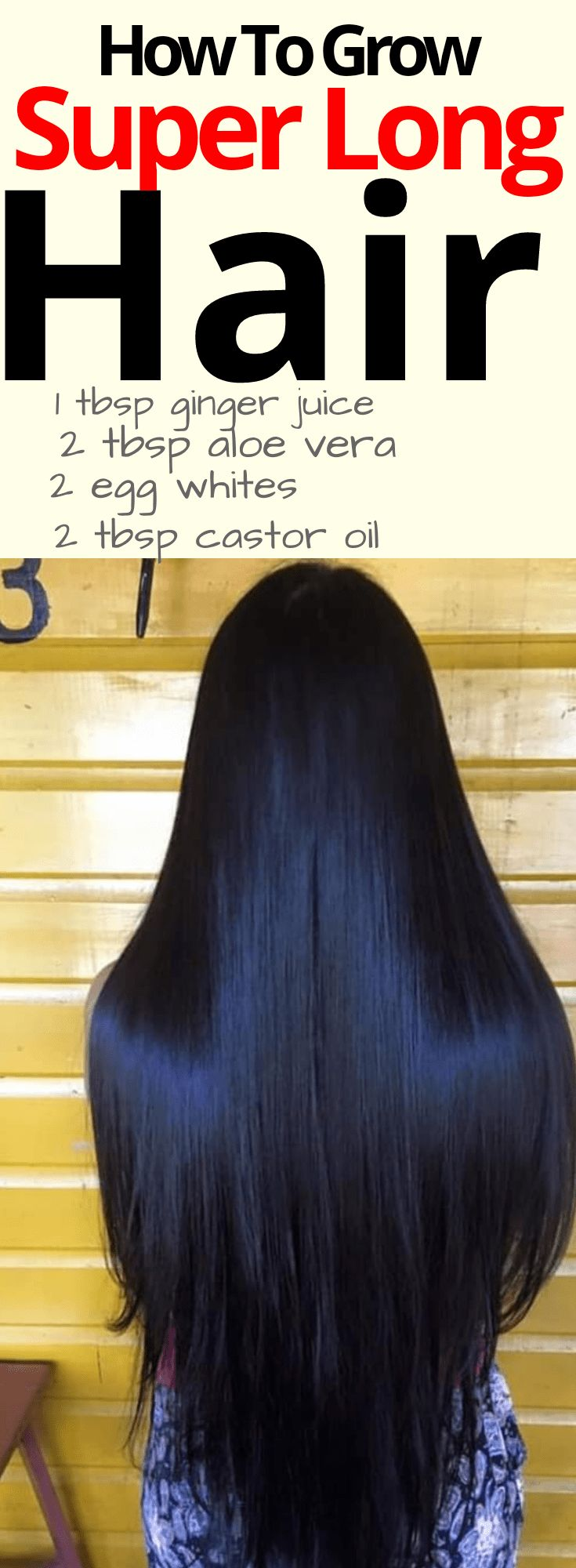 How to Grow Super Long Hair. Grow long hair fast, with a diy hair growth mask. This mask has egg, aloe vera, castor oil and ginger juice, which grow's hair fast
