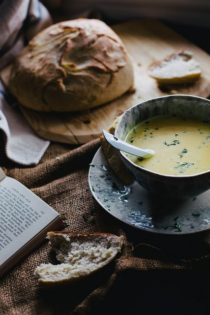 """Curried Kabocha Squash Soup & """"No Time"""" Bread by Beth Kirby 