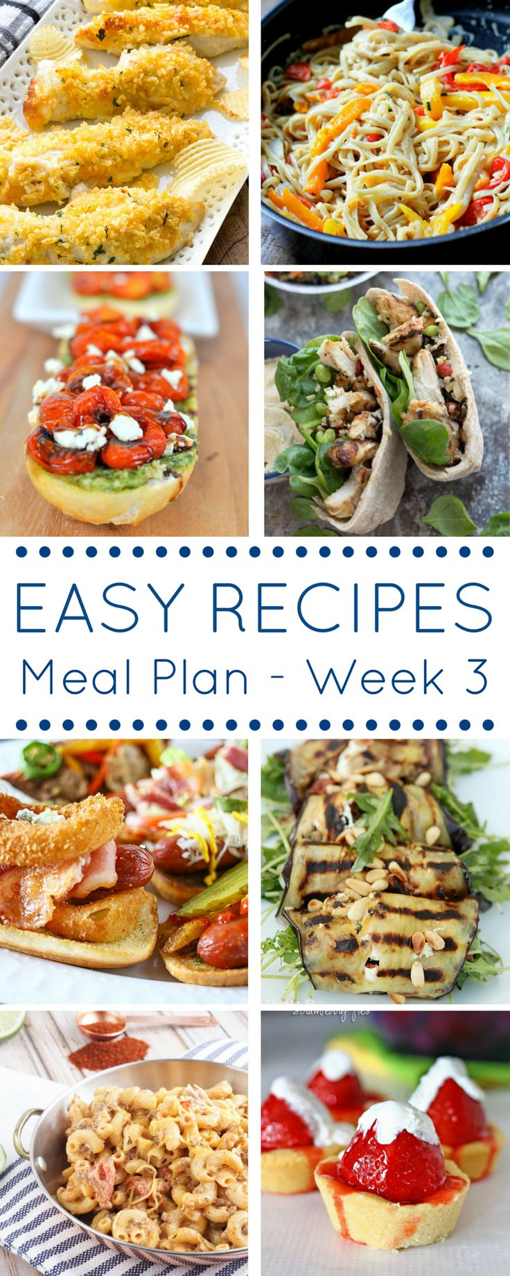 Meal planning for the week just go SO EASY!  Working with 6 other bloggers, I've created a weekly meal plan full of EASY recipes that your whole family will love.
