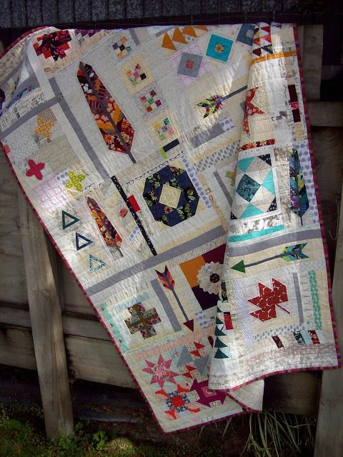 JulieLou : Scrappy Sampler Quilt - Finished