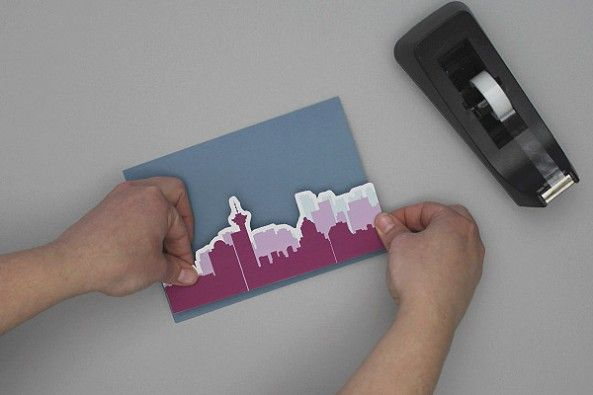 DIY Vancouver Skyline invitation template by Download and Print