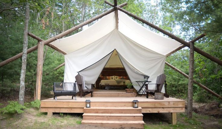 This glamping retreat in Ontario is the perfect place for an outdoorsy honeymoon close to home.