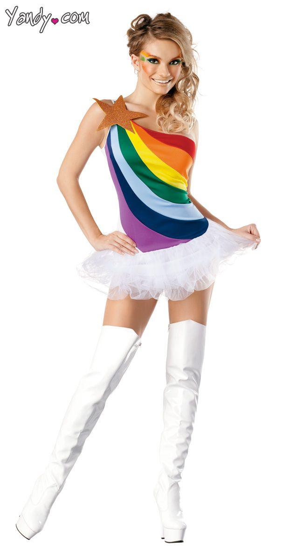 sexy rainbow costume - Womens Halloween Costumes Not Skanky