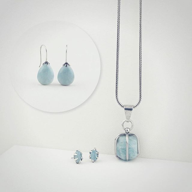 Did you know that aquamarine is used in meditation? It is a calming, soothing stone with healing properties. It inspires truth with oneself and gives quiet courage.  Keep calm. Wear Miglio.  www.miglio.com