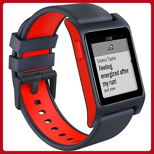 Pebble 2 + Heart Rate Smart Watch- Black/Flame - Little daily helpers (*Amazon Partner-Link)