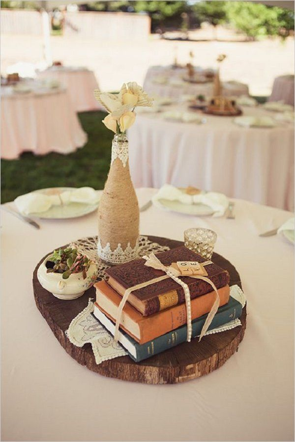 Best 25 vintage book centerpiece ideas on pinterest book 36 shabby chic vintage wedding ideas junglespirit