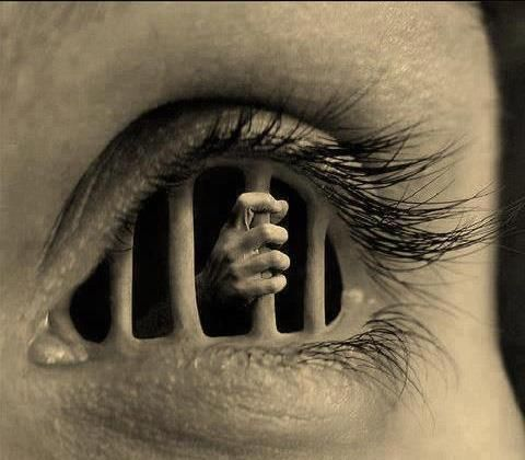 """""""Prisoner"""" a dark eye image. A little twisted, but we love the photo"""
