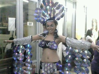 Cds In Costume Recycled Material Costumes Pinterest