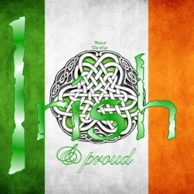 Irish! That is right! My parents lied. I am more Irish than German!!! YAY!