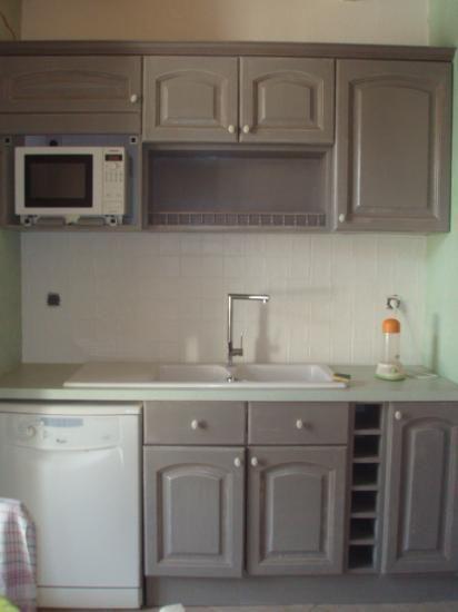 cuisine grise plan de travail blanc - Deco Cuisine Gris Plan De Travail Ardoise