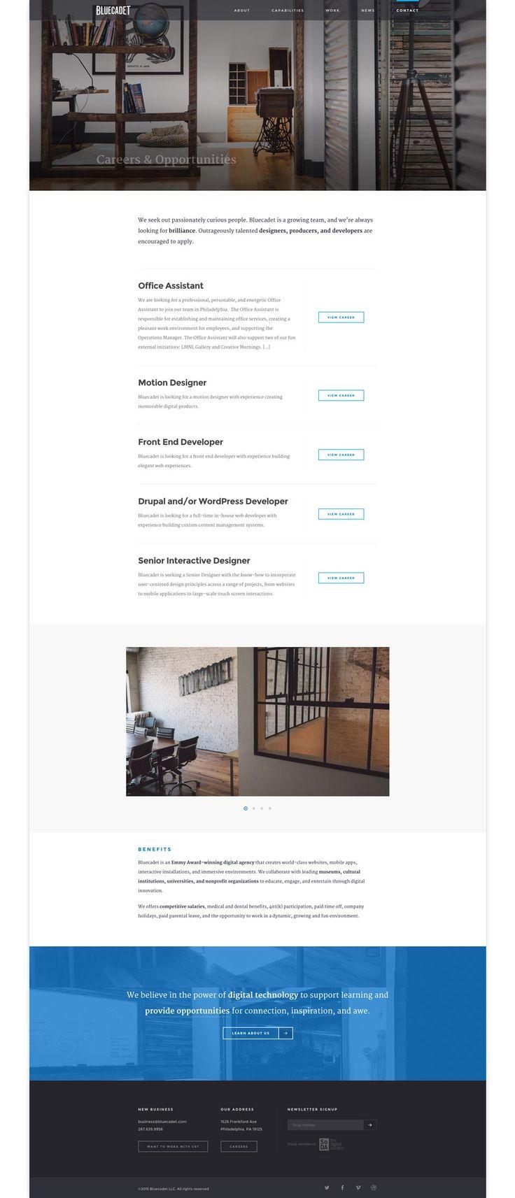 best images about ui careers list behance bluecadet jobs careers list webdesign