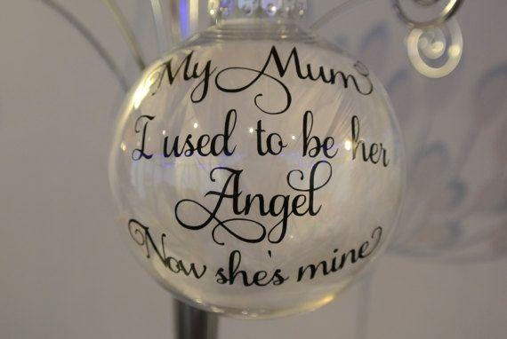 Mum Memorial Bauble  Memorial Gift  Mothers Day by PrintedRibbon4U