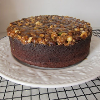 High Tea Cakes - Upside-down Chocolate Caramel Nut Cake from http ...