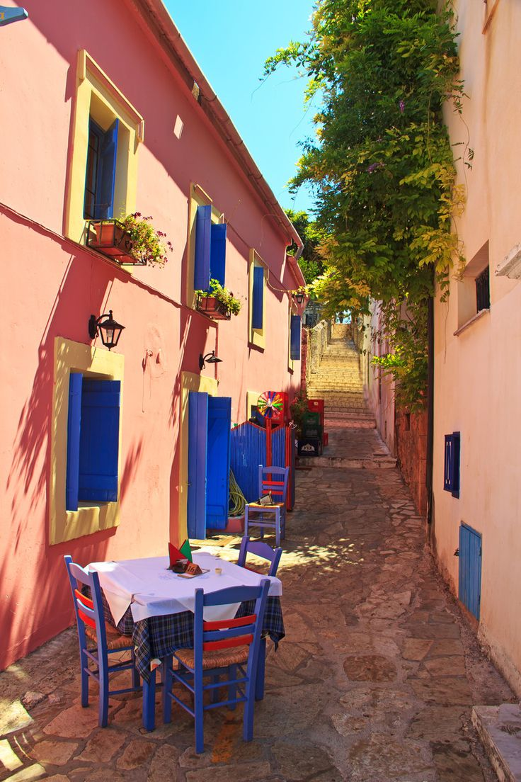 Street Tavern in Fiskardo, Kefalonia, Greece