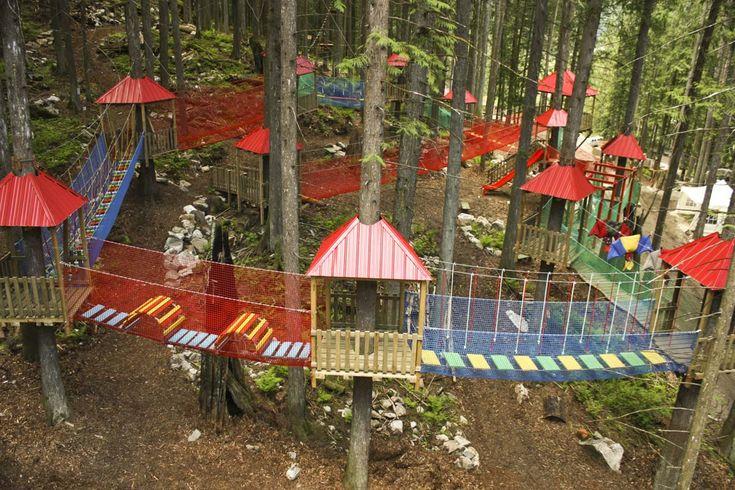 KIDS JUNGLE GYM - Skytrek Adventure Park, Revelstoke, BC