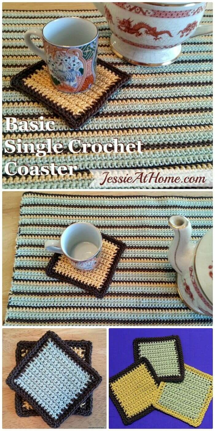 70 Easy Free Crochet Coaster Patterns For Beginners Diy