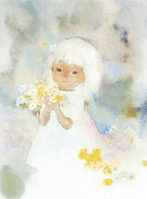 Chihiro Iwasaki 花を持つワンピースの少女