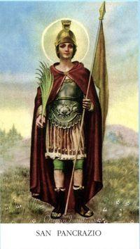San Pancracio, mártir (estampa antigua)